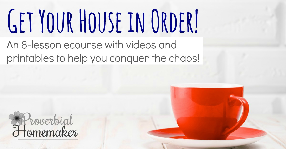 Tired of the clutter and chaos? Get your house in order with this step-by-step web course with videos and printables!