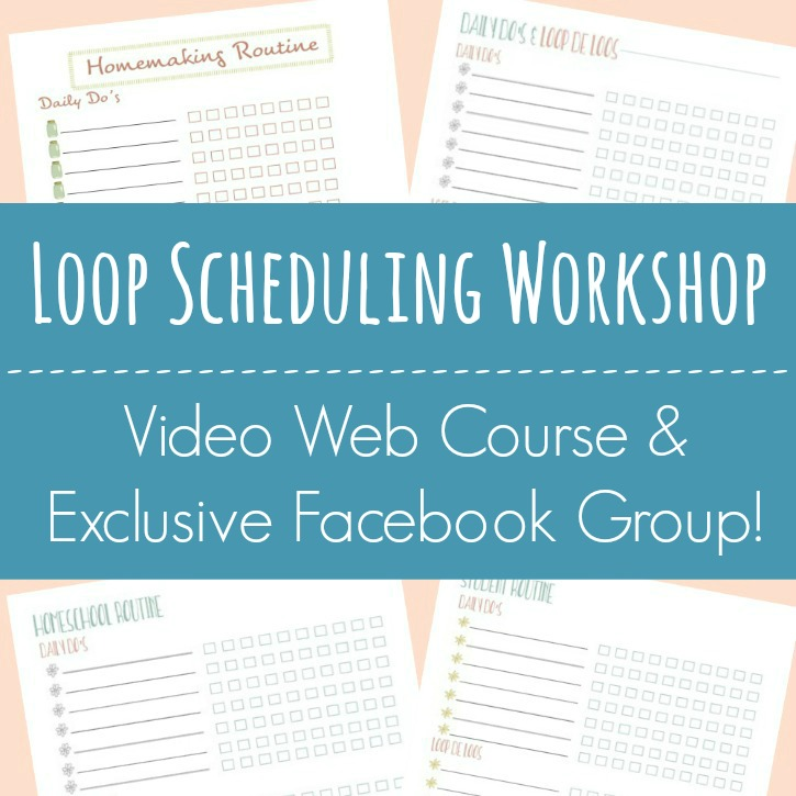 Video web course with 5 lessons and worksheets, loop schedule templates, and exclusive FB group access!