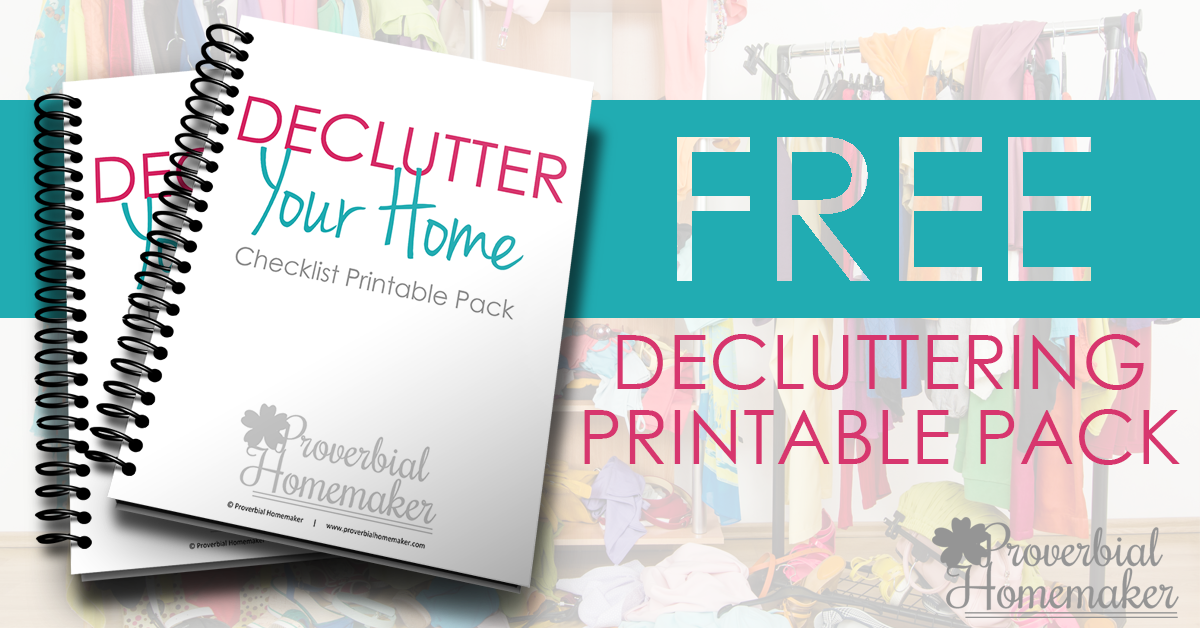 FREE Decluttering Printable Pack