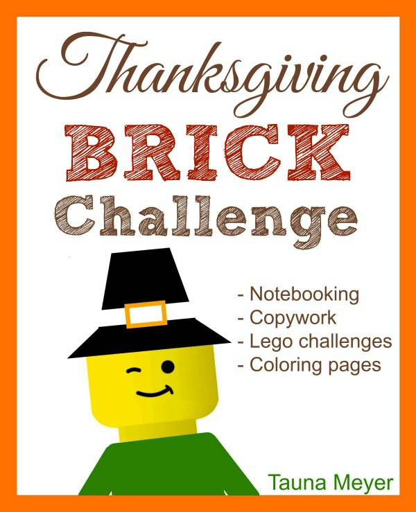 Enjoy fun Lego challenges, coloring pages, and more with this FREE Thanksgiving Brick Challenge printable!