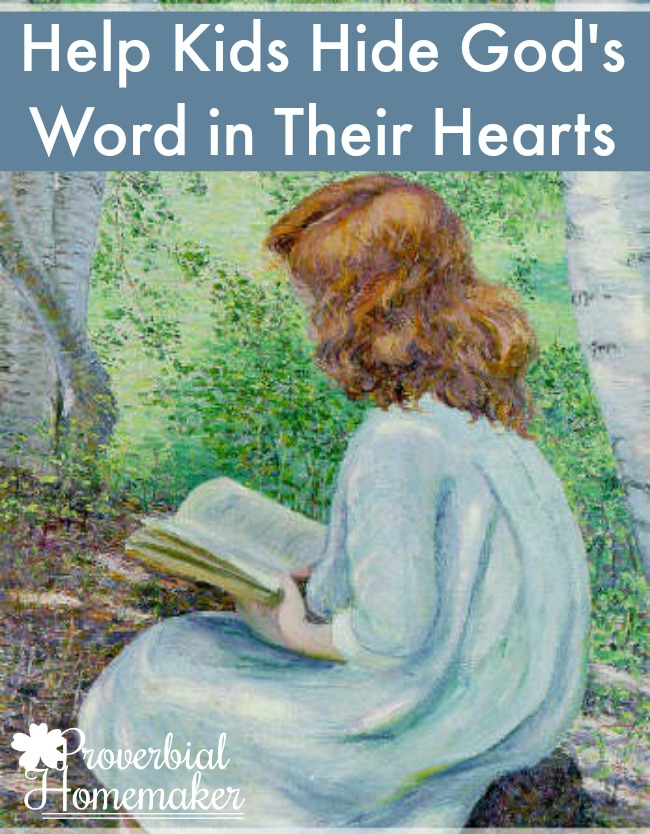 Helping Your Kids Memorize Scripture - great list of resources to help them hide God's Word in their hearts