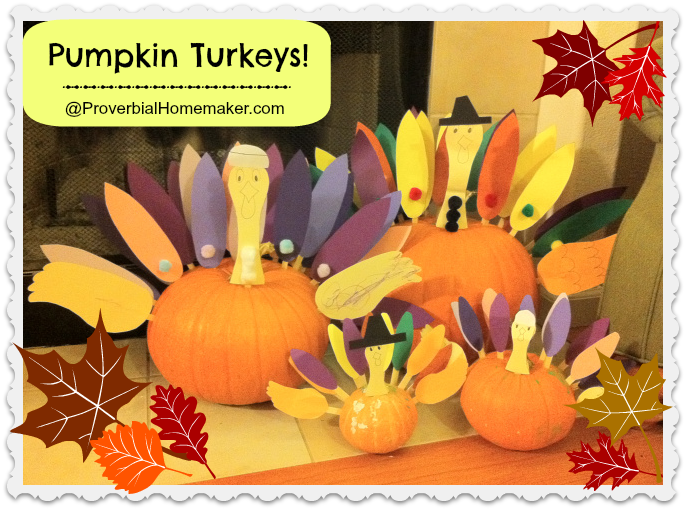 Thanksgiving Craft: Pumpkin Turkeys