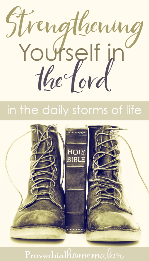 When the storms of daily life hit - whether big or small - strengthen yourself in the Lord! Here's biblical encouragement from the pages of David's story.