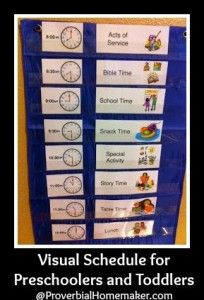 Visual Schedule for Preschoolers and Toddlers