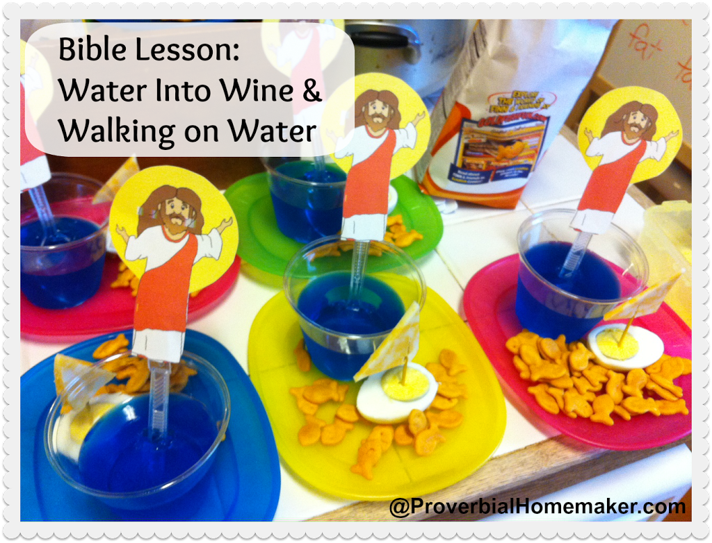 Walking on Water - Jesus walks on the water object lesson and craft