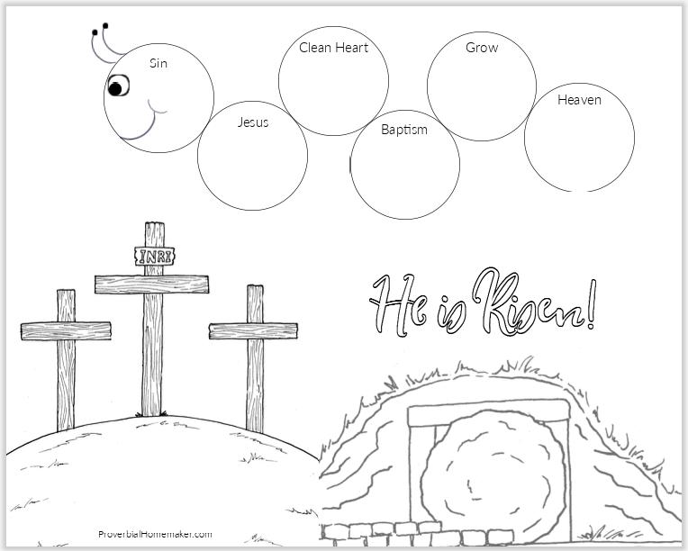 Caterpillar Preschool Wordless Book