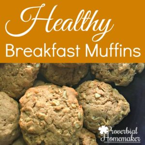 Healthy Breakfast Muffins - love this healthy, easy recipe for breakfast muffins the kids love!