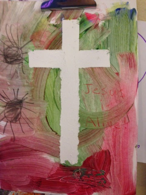 Tape Cross Easter Art Project 2