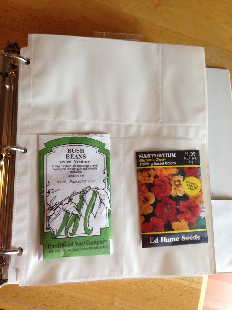 Simple Seed Storage Binder  www.proverbialhomemaker.com Learn to create your own seed storage binder!