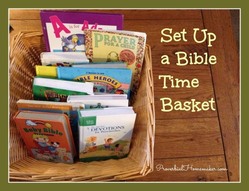Bibles and devotions for a child's morning quiet time.