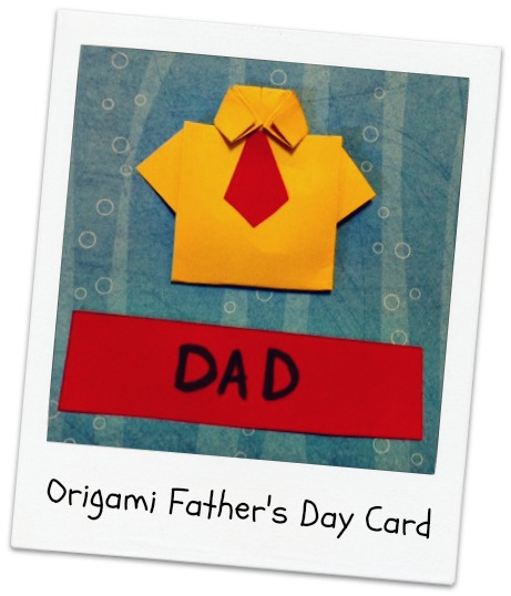 Origami Fathers Day Card Proverbial Homemaker