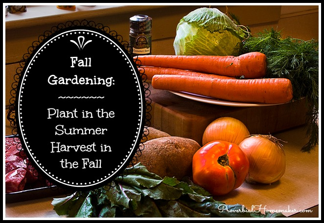 Fall Gardening Plant in the summer harvest in the fall Proverbial Homemaker