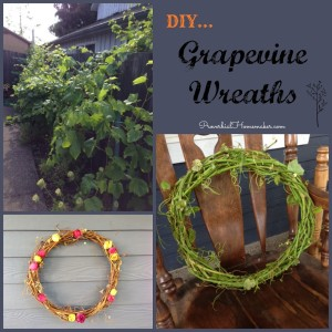 Simple DIY craft for making spring and fall grapevine wreaths