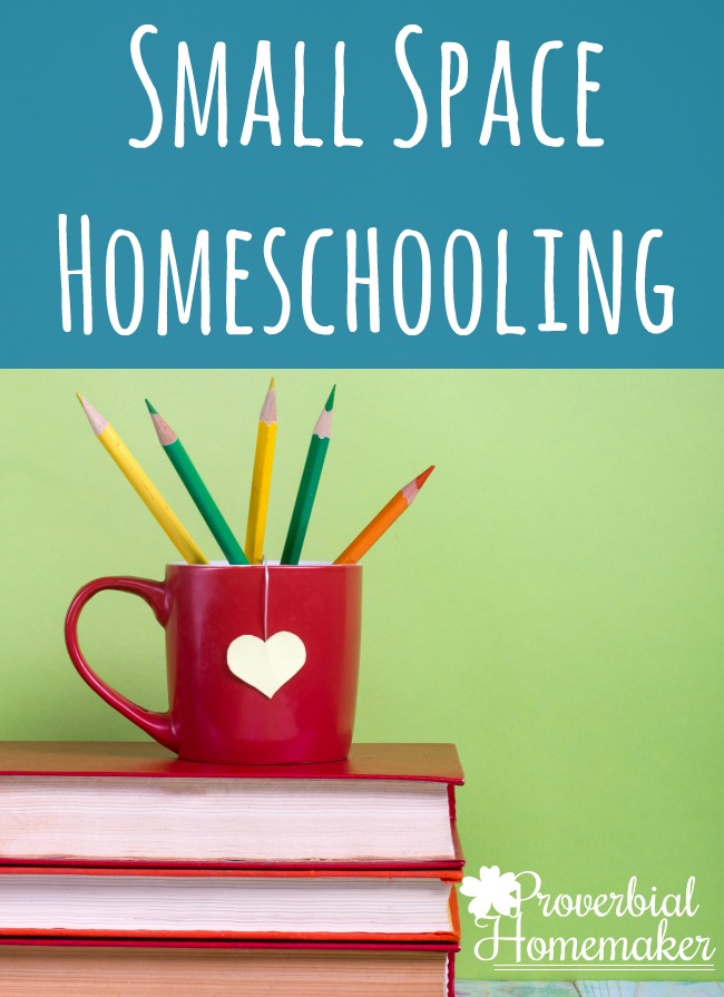Small Space Homeschooling - Love these tips and ideas for organizing supplies and learning areas with limited space!