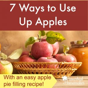 Have a bunch of apples? Find 7 ways to use up apples with tips and recipes, including my favorite apple pie filling recipe that can be used as ice cream topping or syrup, too!