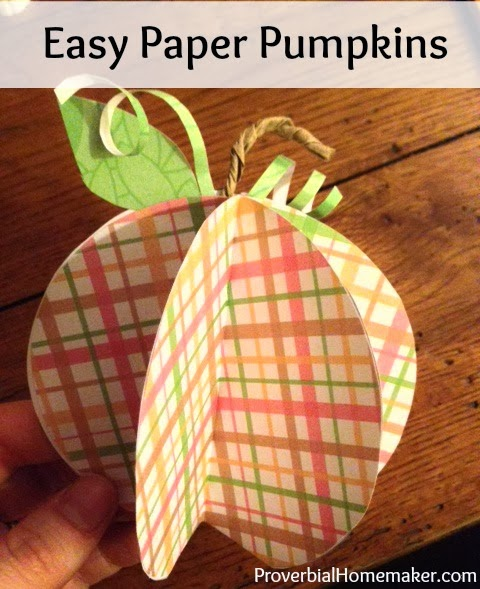 Easy paper pumpkin craft for kids or adults