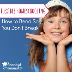 Flexible Homeschooling: How to Bend So You Don't Break