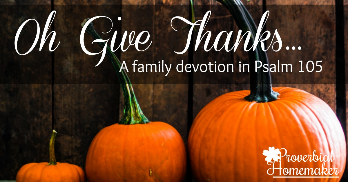 Thanksgiving Family Devotion