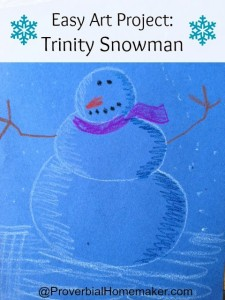 Trinity Snowman Activity from Sound Words for Kids Lessons in Theology