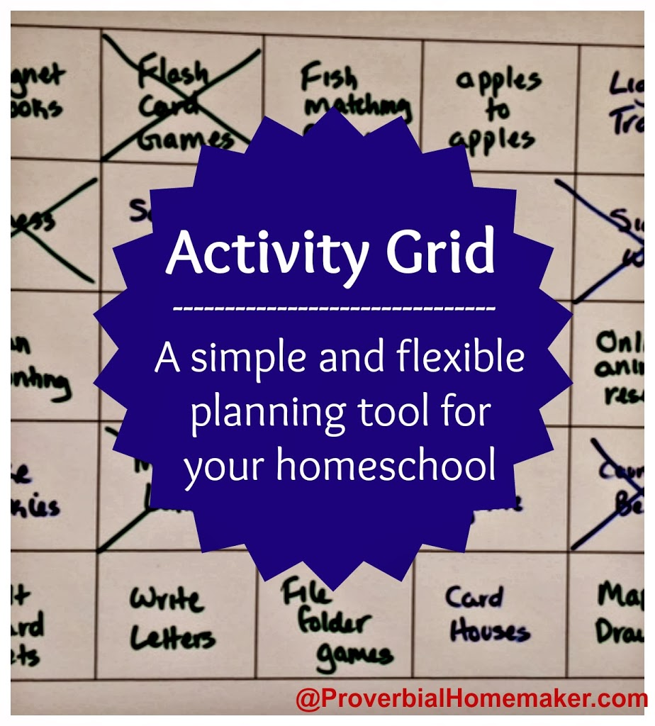 Activity Grid Tool For Homeschool
