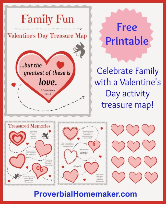 Celebrate Valentine's Day as a family with this awesome printable with activities, menu, and more!