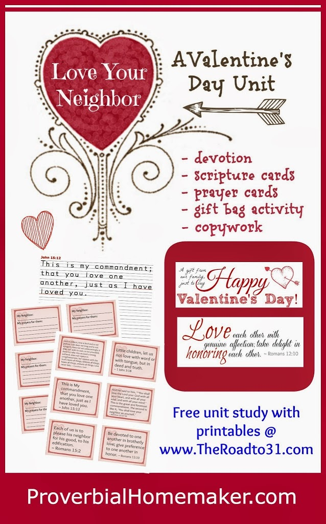 Love Your Neighbor Valentine's Day Unit Study