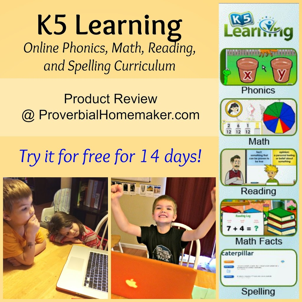 k5 learning review  online reading  spelling and math