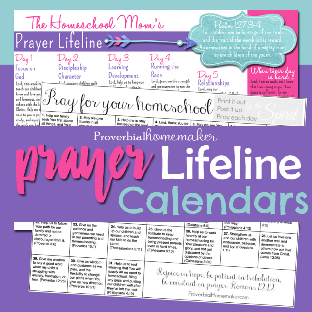 Overwhelmed by homeschooling? Or just want to give it the best shot at success? Cover your homeschool in prayer! These homeschool prayer calendars are the tools that will help you do that consistently. #homeschool #homeschooling #prayer #homeschoolmom