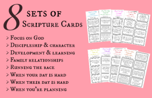 Scripture cards for the homeschool mom to pray through