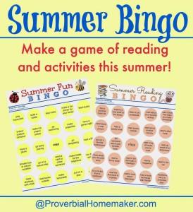 Summer Bingo Printable Sheets