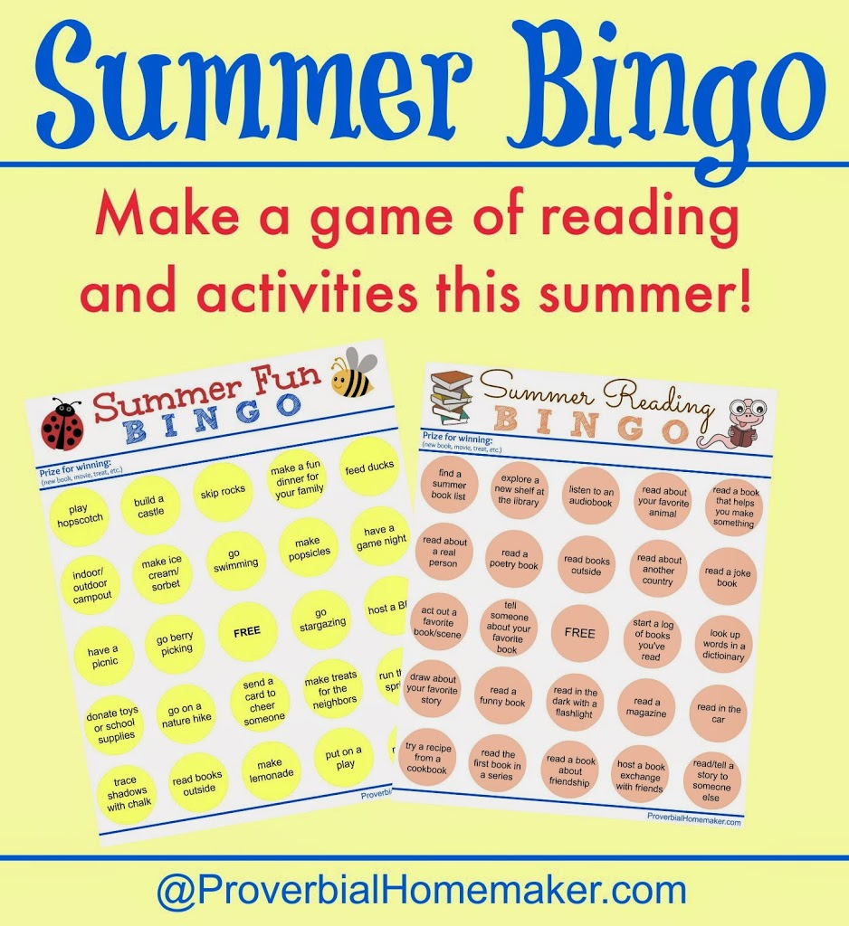 Summer Bingo Printable Sheets