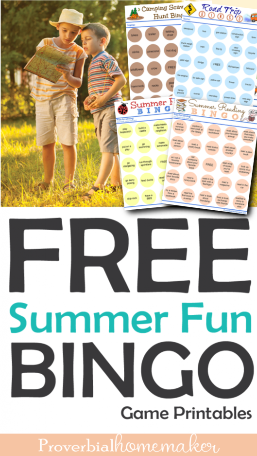 Summer Bingo Game Printable