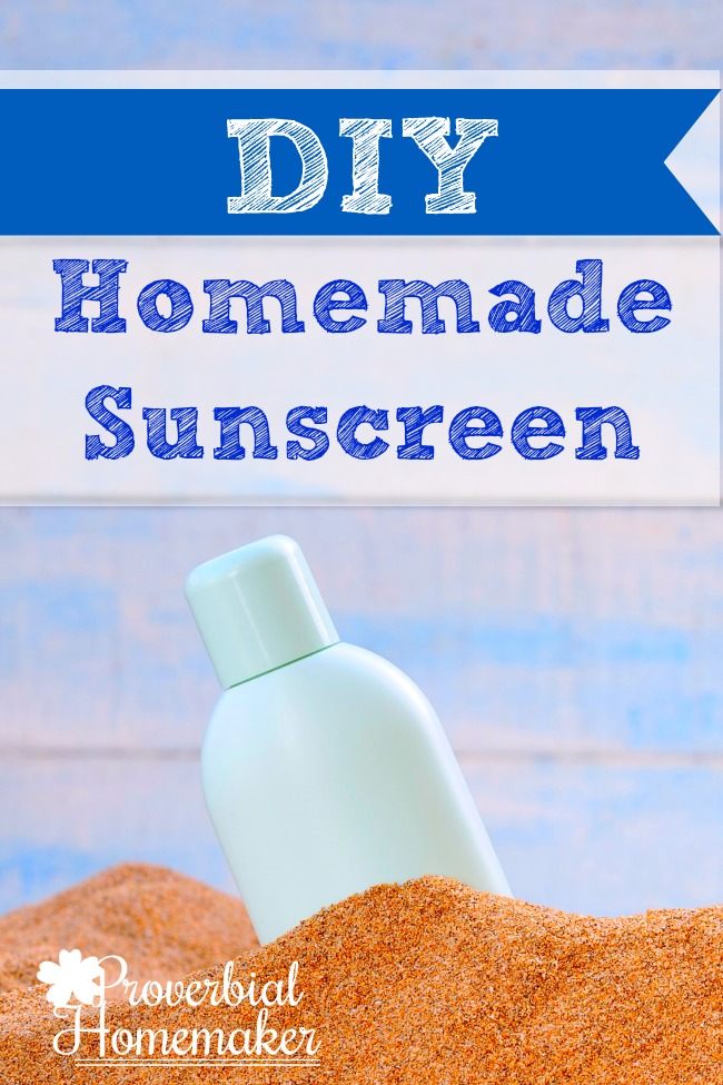 Make this easy recipe for DIY homemade sunscreen and avoid the harsh chemicals!