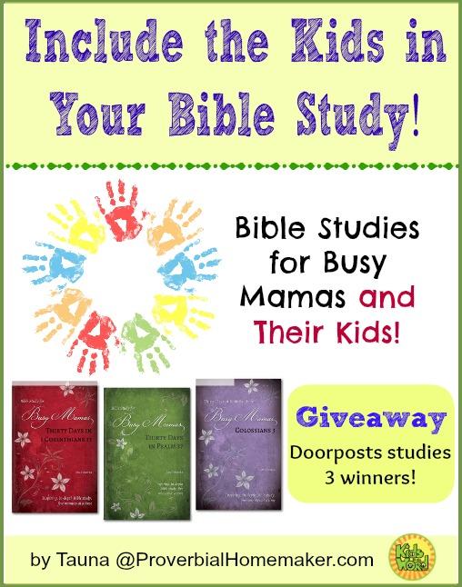 Include the Kids in Your Bible Study (Doorposts Giveaway!)