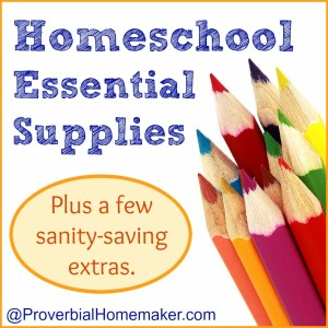 Homeschool Essential Supplies