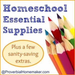Homeschool Essential Supplies