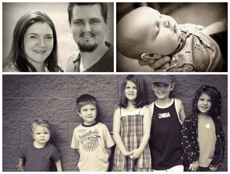 Tauna Meyer of Proverbial Homemaker with her family.