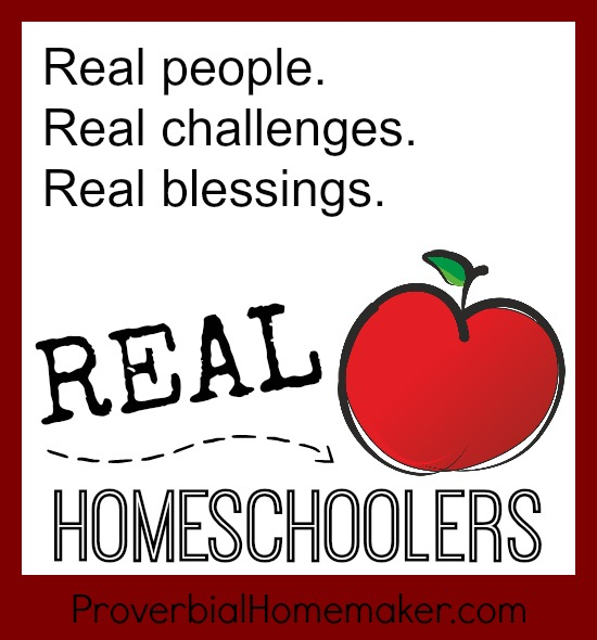 Real Homeschoolers interview series - questions and answers from homeschoolers to encourage and support you on your journey! Over 20 homeschoolers share their unique challenges and blessings. From ProverbialHomemaker.com