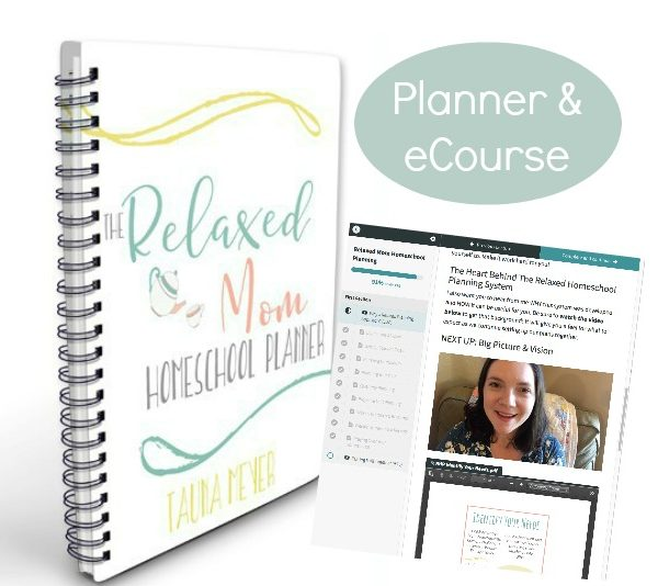 The Relaxed Mom Homeschool Planner & eCourse helps you set up a flexible system that works for you!