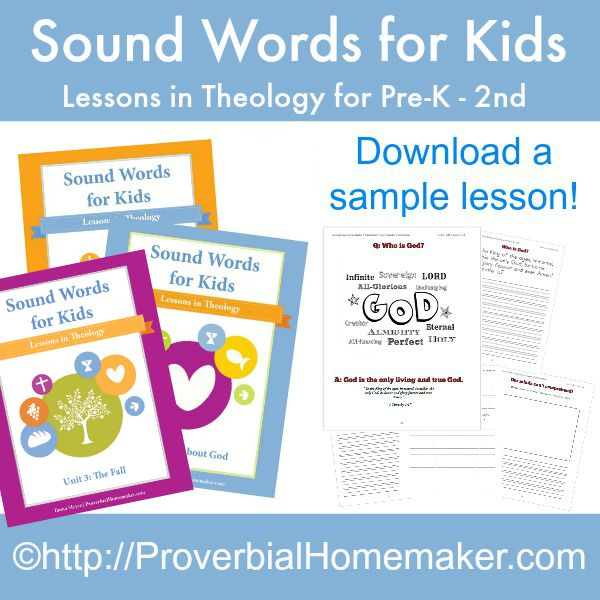 Sound Words for Kids: Lessons in Theology