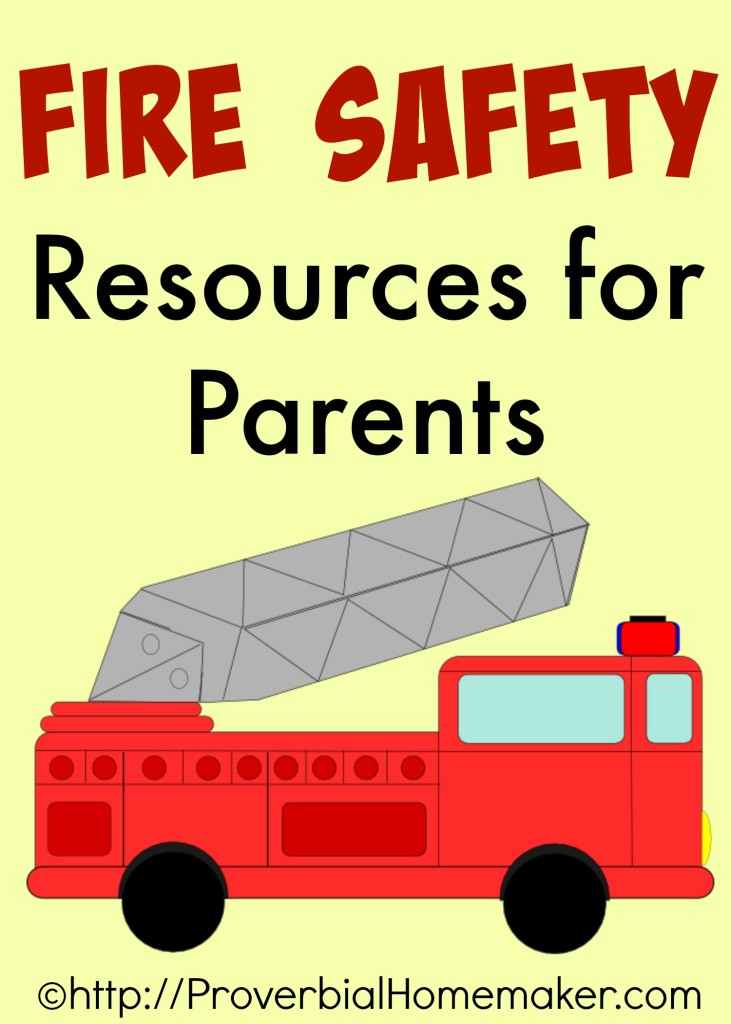 Fire safety resources for parents for Fire prevention tips for home