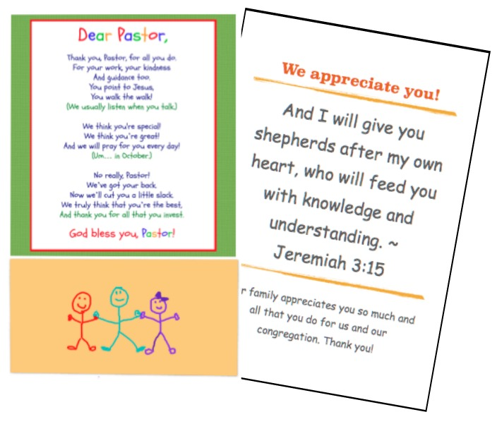 FREE Printables and Fun Ideas for Serving Your Pastor