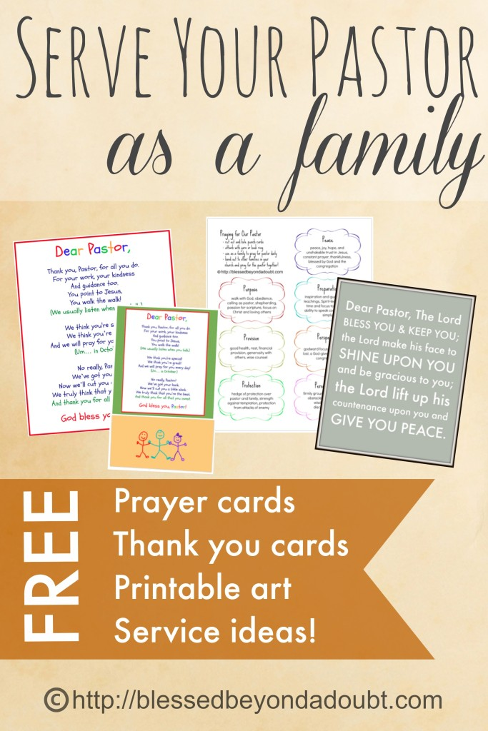 printables and fun ideas for blessing your pastor