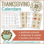 Thanksgiving Calendars 400