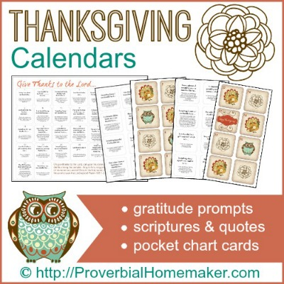 Thanksgiving Calendars 400