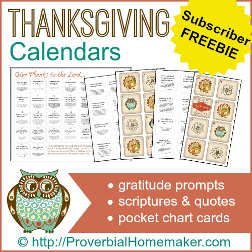 Thanksgiving Calendars Freebie