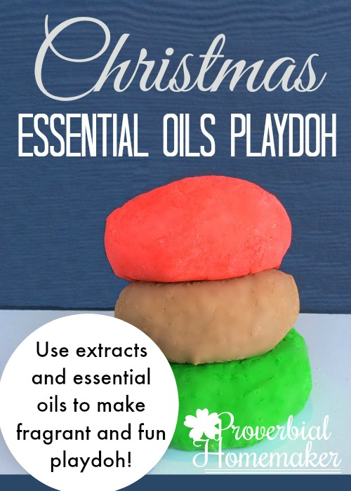 Christmas Essential Oils Playdoh - Use extracts and Rocky Mountain Oils to make fragrant holiday playdough!