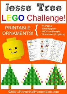 Free printables to start a LEGO Challenge for your Jesse Tree!