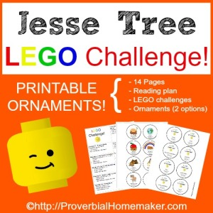 Printables for a LEGO Challenge to use with your Jesse Tree tradition!