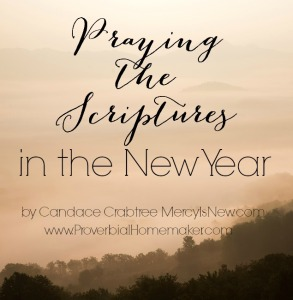 Today Candace explains the importance of praying the scriptures and encourages us to take up that very habit in the new year.